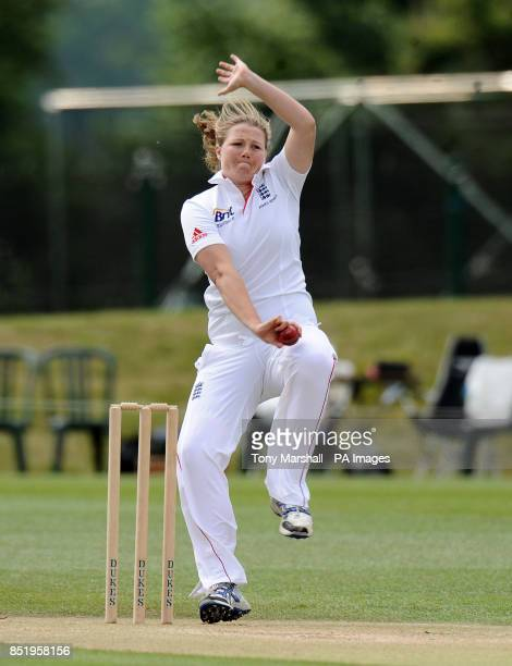 England's Anya Shrubsole bowling during day four of the First Women's Ashes test match at Wormsley Cricket Ground High Wycombe