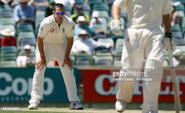 England's Ashley Giles during the first day of the Tour match at WACA Ground Perth Australia