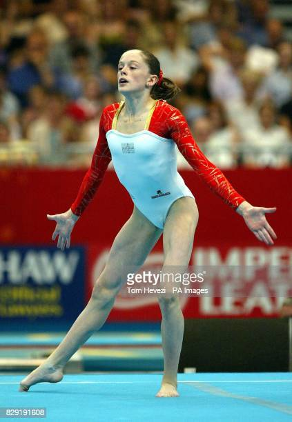 England's Becky Owen from Bridlington wins silver in the Women's Gymnastics floor exercise at the Commonwealth Games in Manchester