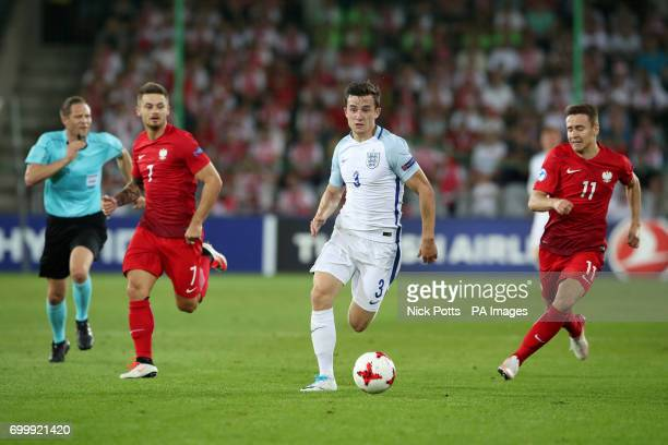 England's Ben Chilwell during the UEFA European Under21 Championship Group A match at the Kolporter Arena Kielce
