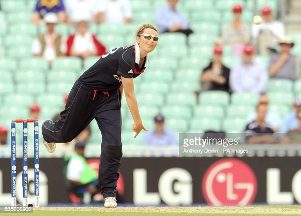 England's captain Charlotte Edwards during the ICC Women's World Twenty20 Semi Final at The Oval London