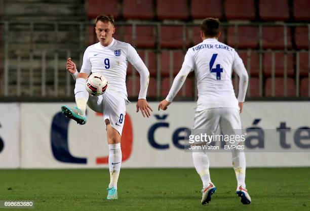 England's Cauley Woodrow and Jake ForsterCaskey in action