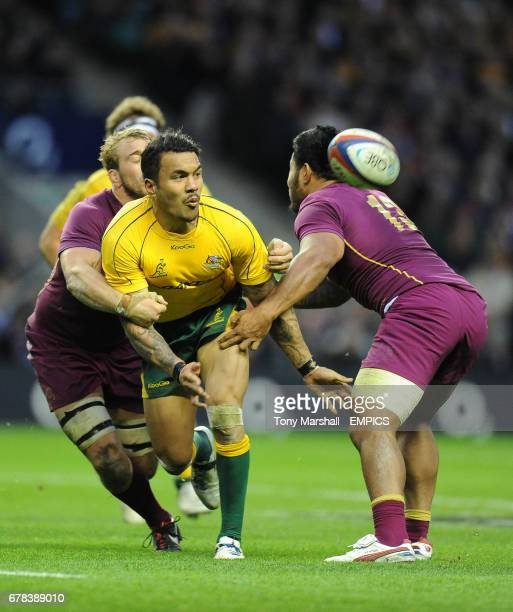 Leicester Centre Manu Tuilagi Is Tackled: Tuilagi Stock Photos And Pictures