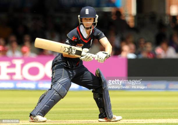 England's Claire Taylor bats during the Final of the Womens ICC World Twenty20 at Lords London