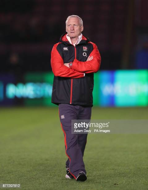 England's Coach Simon Middleton before the Old Mutual Wealth Series match at Allianz Park London