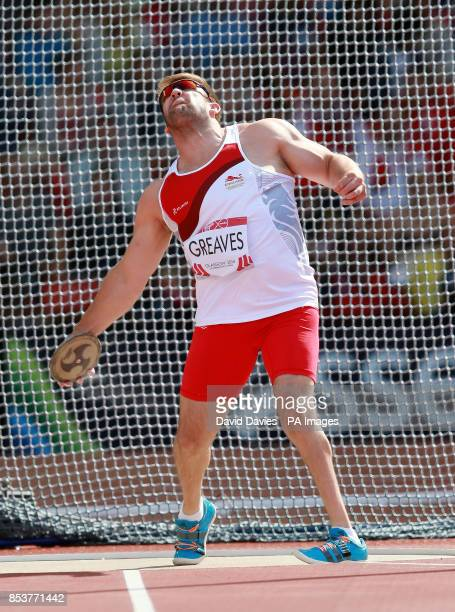 England's Dan Greaves during the Men's ParaSport Discus F42/F44 competition at Hampden Park during the 2014 Commonwealth Games in Glasgow