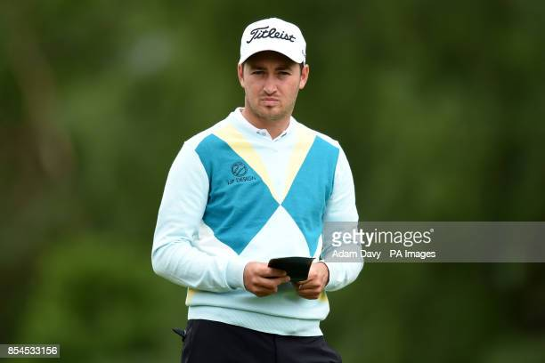 England's Daniel Brooks during day two of the BMW PGA Championship at the Wentworth Club Surrey