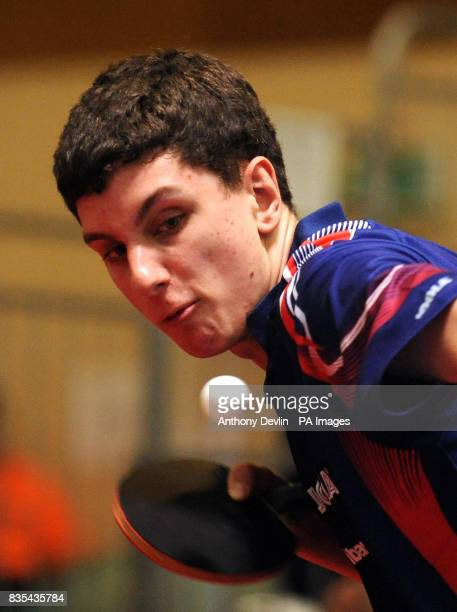 England's Daniel Reed in action during India's Table Tennis Tour at Dormers Wells Leisure Centre in Southall London