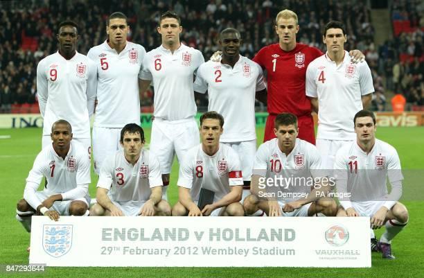 England's Danny Welbeck Chris Smalling Gary Cahill Micah Richards Joe Hart Gareth Barry Ashley Young Leighton Baines Scott Parker Steven Gerrard and...