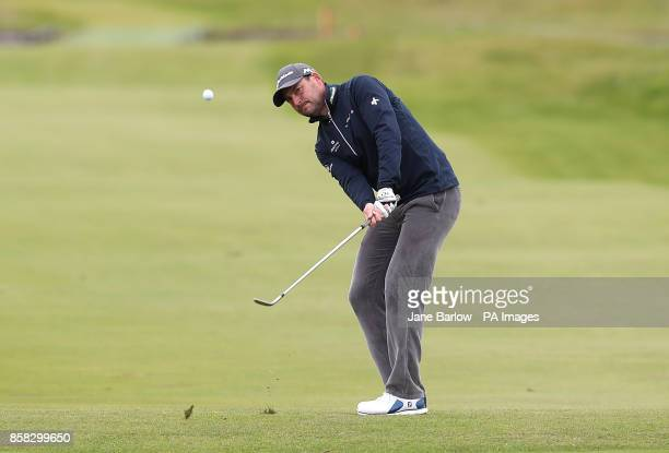 England's David Howell chips onto the eighteenth green during day two of the Alfred Dunhill Links Championship at Carnoustie