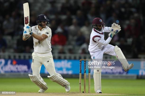 England's Dawid Malan bats during day one of the First Investec Test match at Edgbaston Birmingham