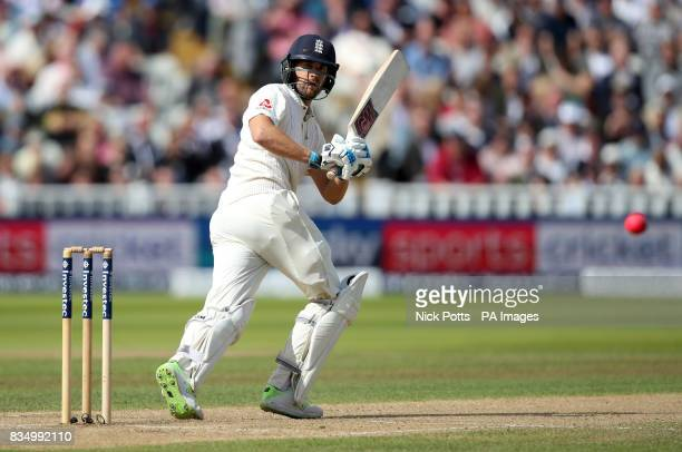 England's Dawid Malan bats during day two of the First Investec Test match at Edgbaston Birmingham