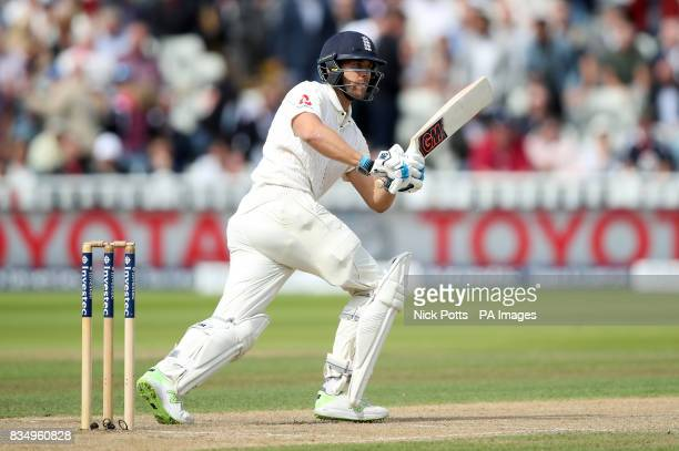 England's Dawid Malan during day two of the First Investec Test match at Edgbaston Birmingham