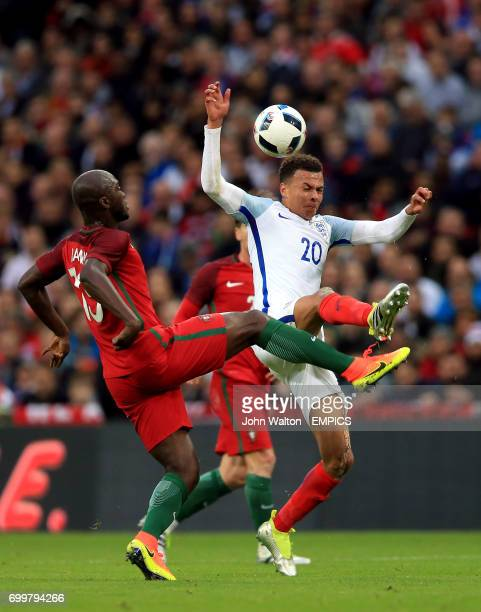 England's Dele Alli and Portugal's Danilo Pereira battle for the ball