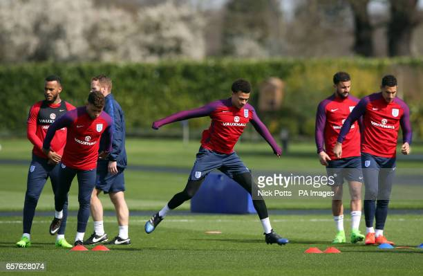 England's Dele Alli during the training session at Enfield Training Ground London