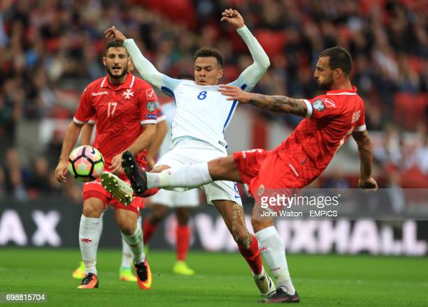 England's Dele Alli scores his sides second goal of the game