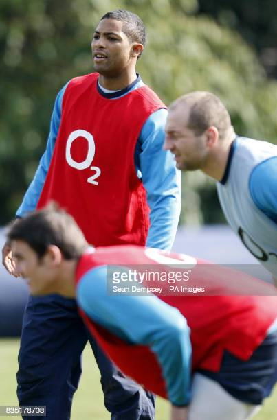 England's Delon Armitage during a training session at Pennyhill Park Surrey