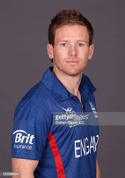 England's Eoin Morgan poses at a portrait session ahead of the opening of the ICC T20 World Cup on September 16 2012 in Colombo Sri Lanka