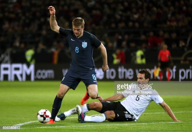 England's Eric Dier and Germany's Mats Hummels battle for the ball during the International Friendly match at Signal Iduna Park Dortmund