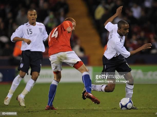 England's Fabian Delph is challenged by Czech Republic's Marcel Gecov