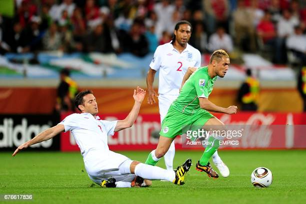 England's Frank Lampard and Algeria s Karim Ziani battle for the ball