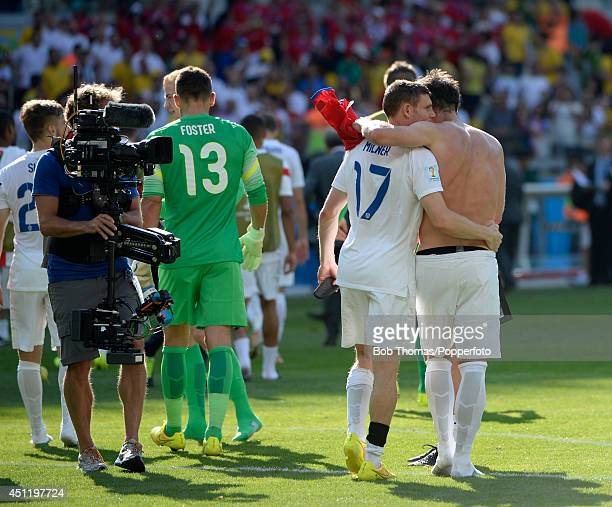 England's Frank Lampard and James Milner after the 2014 FIFA World Cup Brazil Group D match between Costa Rica and England at Estadio Mineirao on...
