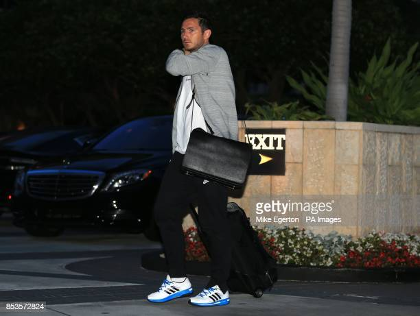 England's Frank Lampard arrives at the Mandarin Oriental Hotel in Miami USA