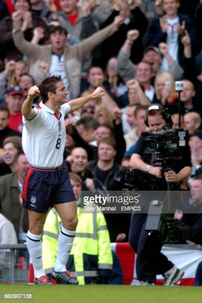 England's Frank Lampard celebrates scoring the opening goal against Wales