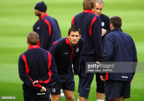 England's Frank Lampard gets ready for training