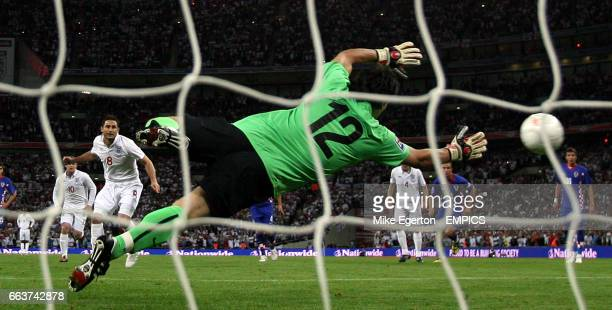 England's Frank Lampard scores his sides first goal of the game from the penalty spot