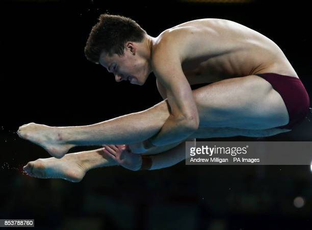 England's Freddie Woodward during the Men's 1m Springboard Diving at the Royal Commonwealth Pool in Edinburgh during the Glasgow 2014 Commonwealth...