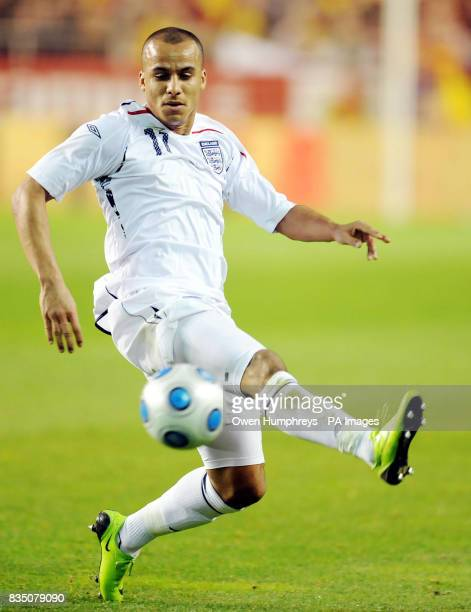 England's Gabriel Agbonlahor in action during the International Friendly at the Ramon Sanchez Pizjuan Stadium in Seville Spain