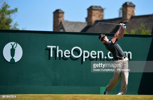 England's Garrick Porteous tees off on the first during day two of the 2013 Open Championship at Muirfield Golf Club East Lothian