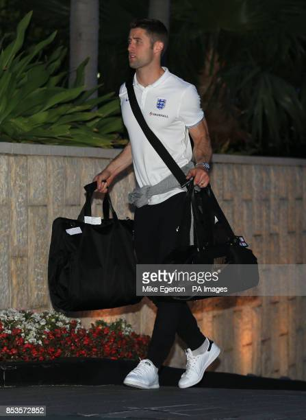 England's Gary Cahill arrives at the Mandarin Oriental Hotel in Miami USA