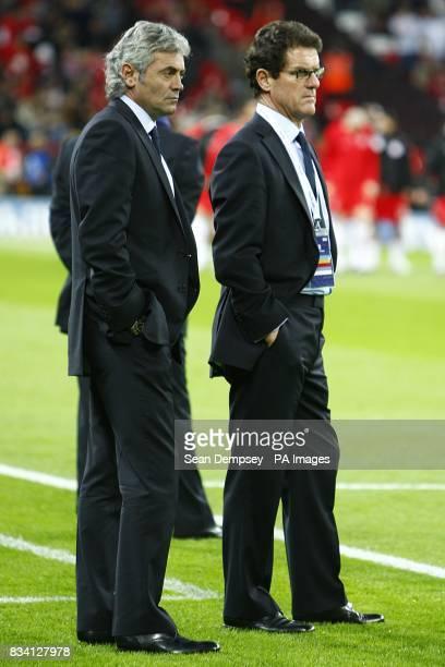 England's general manager Franco Baldini and Manager Fabio Capello