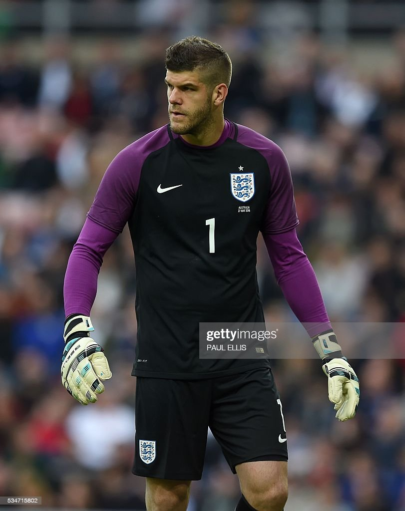 England's goalkeeper Fraser Forster is pictured during the friendly football match between England and Australia at the Stadium of Light in Sunderland, north east England, on May 27, 2016. / AFP / PAUL
