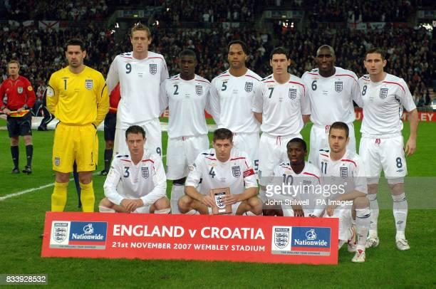 England's goalkeeper Scott Carson Peter Crouch Micah Richards Joleon Lescott Gareth Barry Sol Campbell and Frank Lampard Wayne Bridge Steven Gerrard...