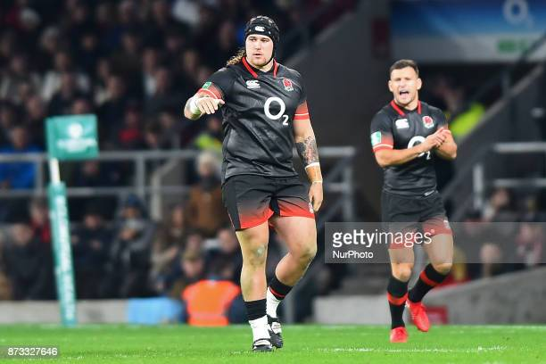 England's Harry Williams with England's Danny Care in the background during Old Mutual Wealth Series between England against Argentina at Twickenham...