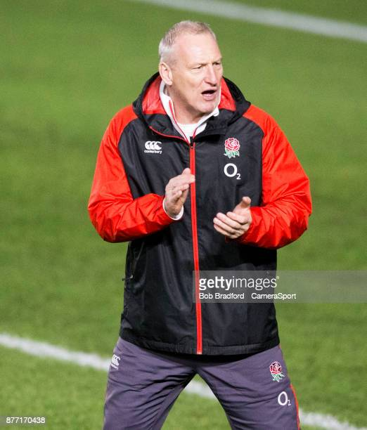Englands Head Coach Simon Middleton during the 2017 Women's Rugby International Old Mutual Wealth Series match between England Women and Canada Women...