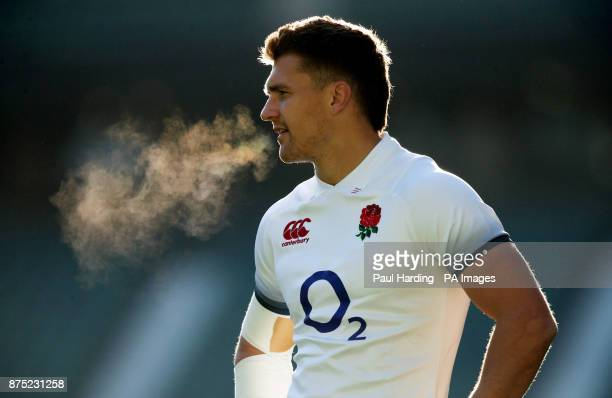 England's Henry Slade during a training session at Twickenham Stadium London