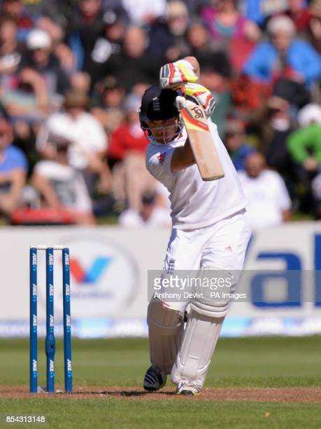 England's Ian Bell bats during Day Two of the First Test at the University Oval Dunedin New Zealand