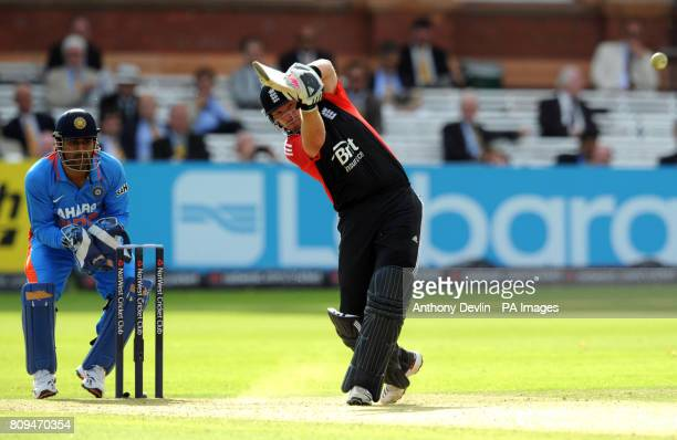 England's Ian Bell bats during the Fourth ODI at Lords Cricket Ground London