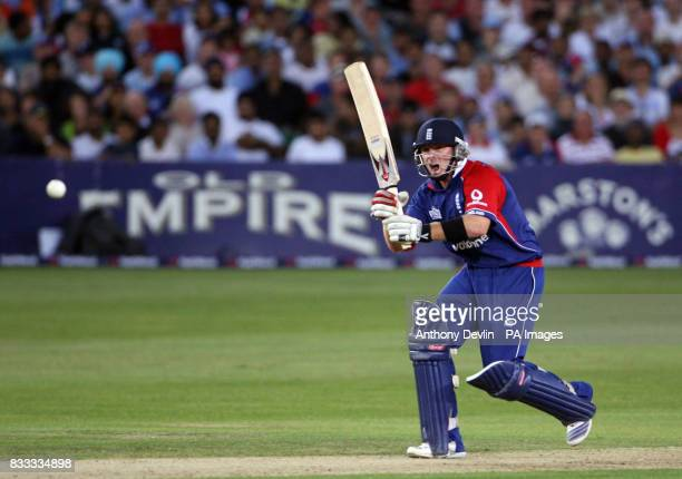 England's Ian Bell drives a shot during the NatWest Series match at the County Ground Bristol