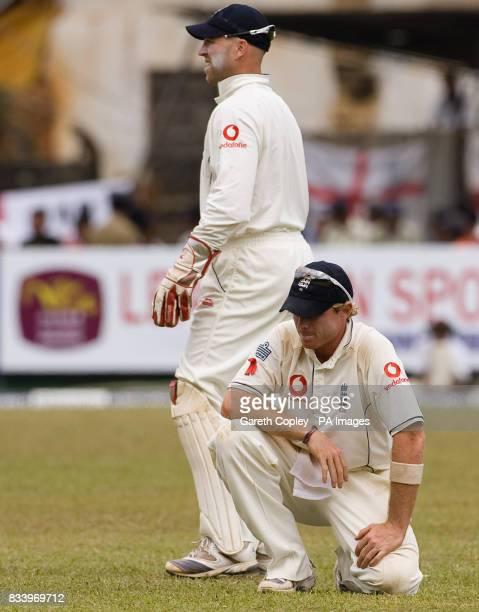 England's Ian Bell reacts after dropping Sri Lanka's Kumar Sangakkara on 98 runs during the first Test match at Asgiriya International Stadium Kandy