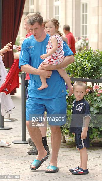 England's Jamie Carragher and family during England Football Players With Their Wives and Girlfriends In Baden Baden June 21 2006 in Baden Baden...