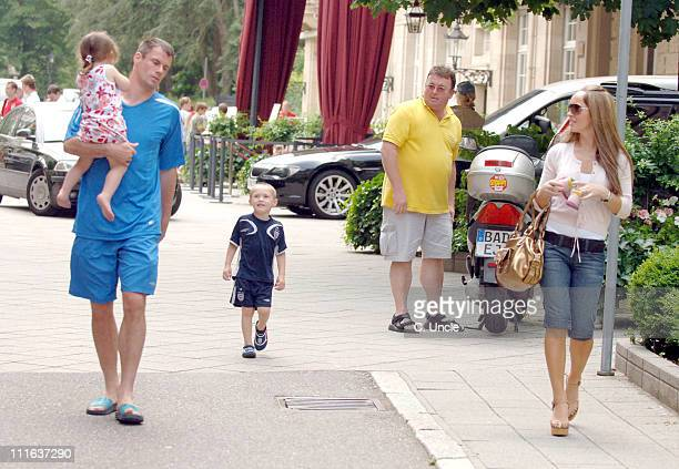 England's Jamie Carragher with his wife Nicola Hart and family
