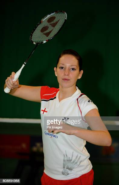 England's Jenny Wallwork during a photocall at the National Badminton Centre Milton Keynes