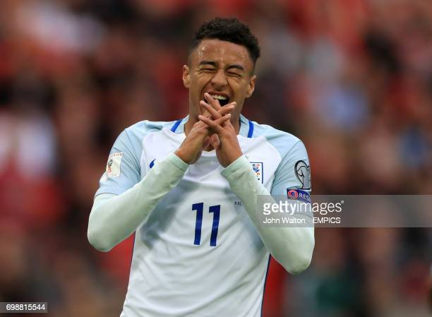 England's Jesse Lingard rues a missed chance to score