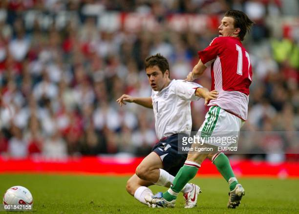 England's Joe Cole and Hungary's Sszabolcs Huszti