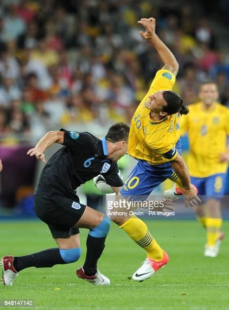 England's John Terry and Sweden's Zlatan Ibrahimovic battle for the ball